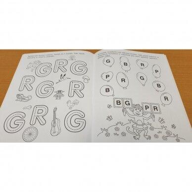 Pirmieji raidžių pažinimo žingsneliai 4-5 metų vaikams 5