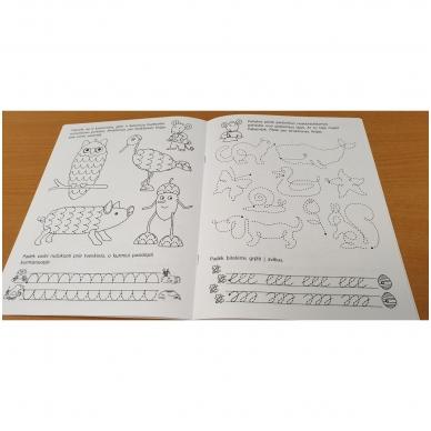 Pirmieji rankos lavinimo žingsneliai 5-6 metų vaikams 2