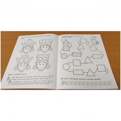 Pirmieji rankos lavinimo žingsneliai 5-6 metų vaikams 7
