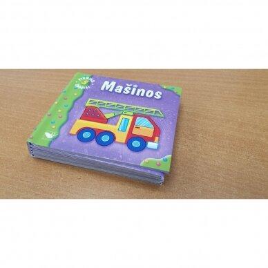 Pirmieji žodžiai. Mašinos. 1-2 metų vaikams (išlankstoma) 2