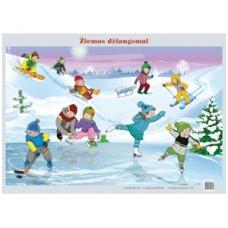 """Plakatas """"Žiemos džiaugsmai"""" (A2 formato)"""