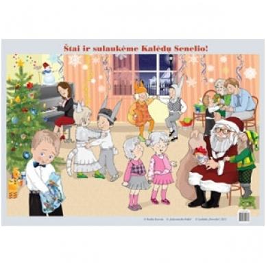 """Plakatas """"Štai ir sulaukėme Kalėdų Senelio"""" (A2 formato)"""