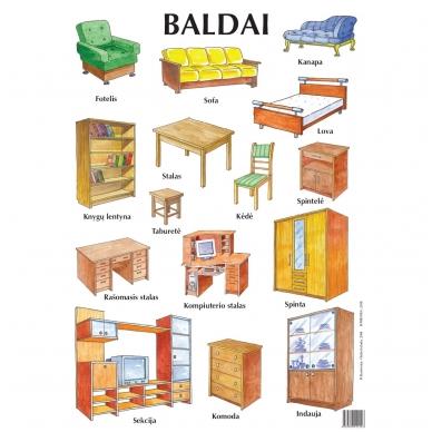 "Plakatas ""Baldai"" (A2 formato)"