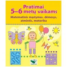 Pratimai 5-6 metų vaikams. Matematinis mąstymas, dėmesys, atmintis, motorika