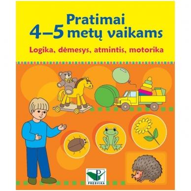 Pratimai 4-5 metų vaikams. Logika, dėmesys, atmintis, motorika