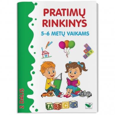 Pratimų rinkinys 5-6 metų vaikams. 2 dalis