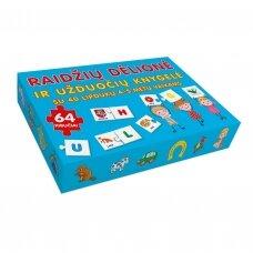 Raidžių dėlionė ir užduočių knygelė su 40 lipdukų 4-5 metų vaikams