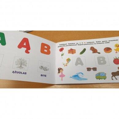 Raidžių dėlionė ir užduočių knygelė su 40 lipdukų 4-5 metų vaikams 4