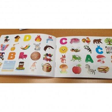 Raidžių dėlionė ir užduočių knygelė su 40 lipdukų 4-5 metų vaikams 5