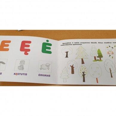Raidžių dėlionė ir užduočių knygelė su 40 lipdukų 4-5 metų vaikams 6