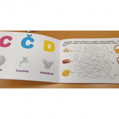 Raidžių dėlionė ir užduočių knygelė su 40 lipdukų 4-5 metų vaikams 7