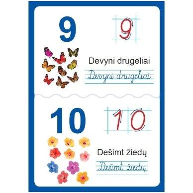 Raidžių ir skaičių plakatai (35 standūs A3 formato plakatai) 7