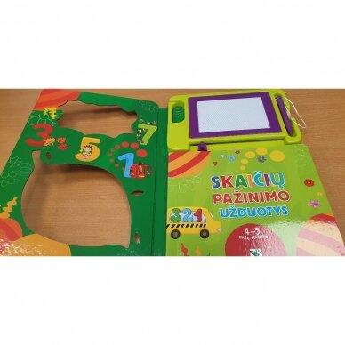 BROKAS!!! Rašau magnetinėje lentoje. Skaičių pažinimo užduotys. 4-5 m. vaikams (sulankstytas viršelis) 2