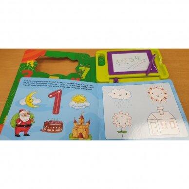 BROKAS!!! Rašau magnetinėje lentoje. Skaičių pažinimo užduotys. 4-5 m. vaikams (sulankstytas viršelis) 3