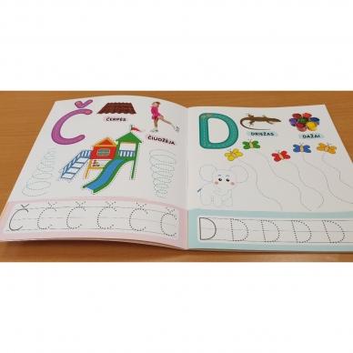 Rašau raides. 4-5 metų vaikams. Nutrynęs vėl rašyk. Su flomasteriu 9