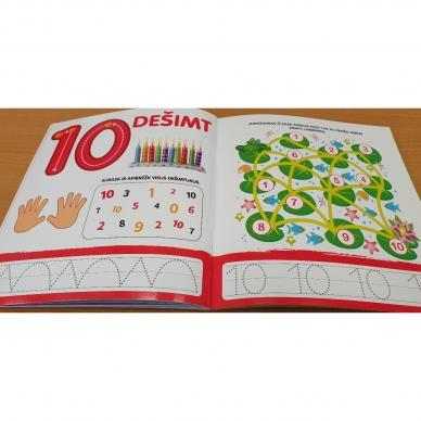 Rašau skaičius. 4-5 metų vaikams. Nutrynęs vėl rašyk. Su flomasteriu 3
