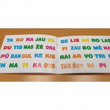 Skiemenų dėlionė ir užduočių knygelė su 40 lipdukų 5-6 metų vaikams 4