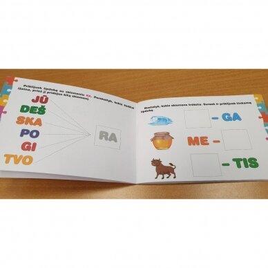 Skiemenų dėlionė ir užduočių knygelė su 40 lipdukų 5-6 metų vaikams 5