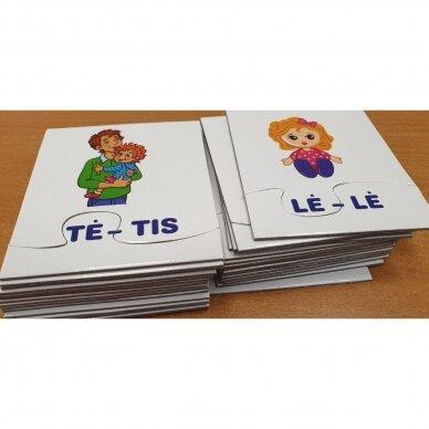Skiemenų dėlionė ir užduočių knygelė su 40 lipdukų 5-6 metų vaikams 2