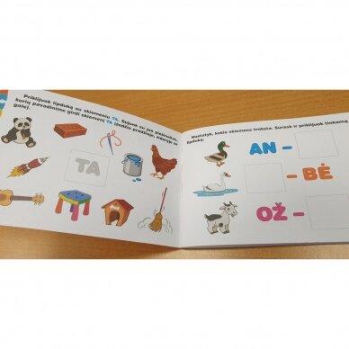 Skiemenų dėlionė ir užduočių knygelė su 40 lipdukų 5-6 metų vaikams 7