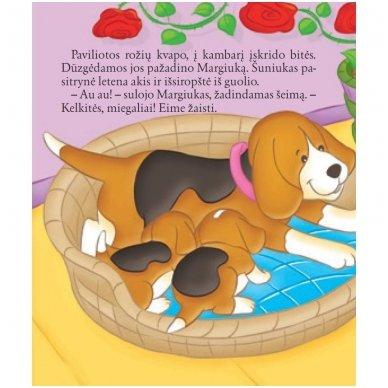 BROKAS!!! Šuniukas. Su daugkartinio naudojimo lipdukais 2-4 metų vaikams (iš grąžinimų) 2