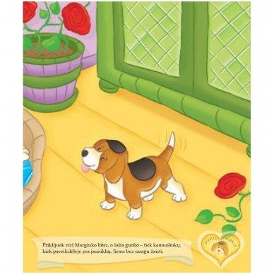 BROKAS!!! Šuniukas. Su daugkartinio naudojimo lipdukais 2-4 metų vaikams (iš grąžinimų) 3