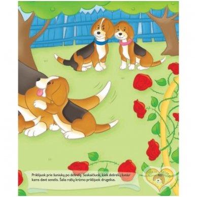 BROKAS!!! Šuniukas. Su daugkartinio naudojimo lipdukais 2-4 metų vaikams (iš grąžinimų) 4