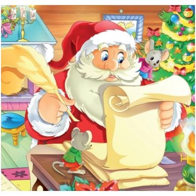 Svečiuose pas Kalėdų Senelį. 6 delionės 2