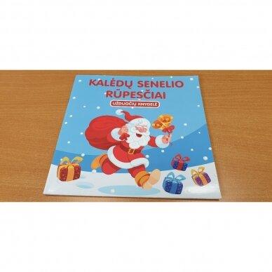 Švęskime Kalėdas! 5-6 metų vaikams. 4 knygelės (3 užduočių ir 1 lipdukų), 250 lipdukų, 6 spalvoti pieštukai, 3 kalėdiniai žaisliukai 8