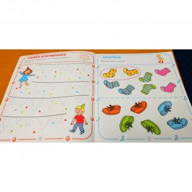 Tai bent užduotėlės. 4-5 metų vaikams. Spalvinimas, galvosūkiai, labirintai (BROKAS, IŠ GRĄŽINIMŲ) 5