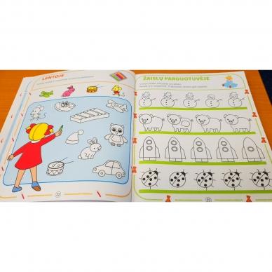 Tai bent užduotėlės. 4-5 metų vaikams. Spalvinimas, galvosūkiai, labirintai (BROKAS, IŠ GRĄŽINIMŲ) 6