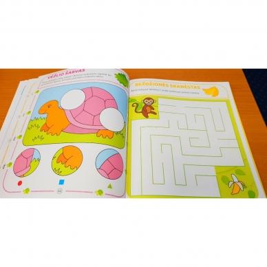 Tai bent užduotėlės. 4-5 metų vaikams. Spalvinimas, galvosūkiai, labirintai (BROKAS, IŠ GRĄŽINIMŲ) 8