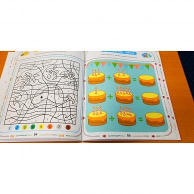 Tai bent užduotėlės. 4-5 metų vaikams. Spalvinimas, galvosūkiai, labirintai (BROKAS, IŠ GRĄŽINIMŲ) 9