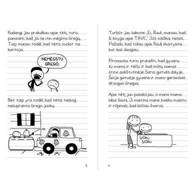 Tikro draugo dienoraštis. Raulio Džefersono knyga. Jeff Kinney 3