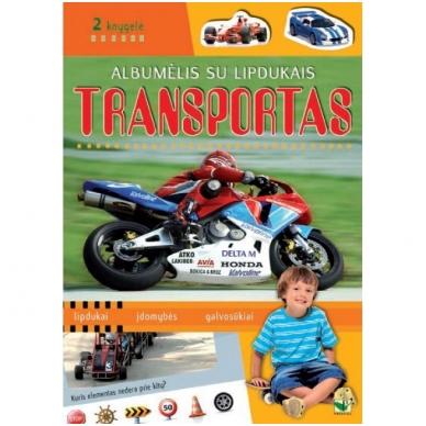 Albumėlis su lipdukais. TRANSPORTAS. 2 knygelė