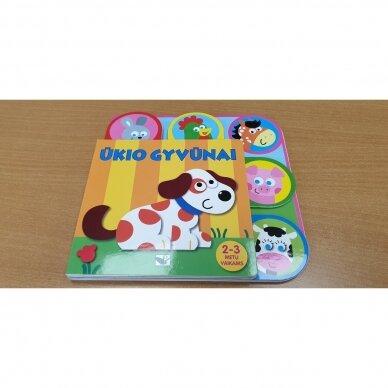 Ūkio gyvūnai. 2-3 metų vaikams (kontūriniai puslapiai) 2