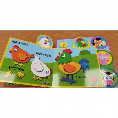 Ūkio gyvūnai. 2-3 metų vaikams (kontūriniai puslapiai) 3