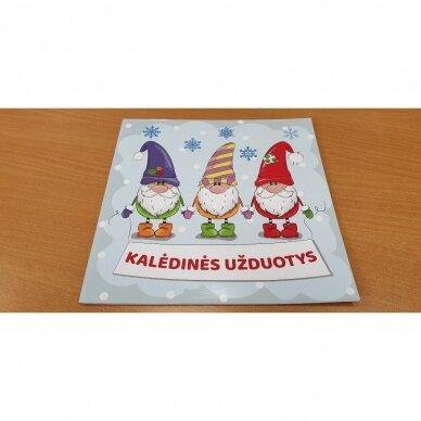 Valio! Kalėdos! 4-5 metų vaikams. 4 knygelės (3 užduočių ir 1 lipdukų), 250 lipdukų, 6 spalvoti pieštukai, 3 kalėdiniai žaisliukai 12
