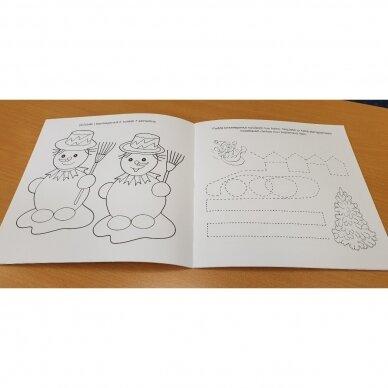 Valio! Kalėdos! 4-5 metų vaikams. 4 knygelės (3 užduočių ir 1 lipdukų), 250 lipdukų, 6 spalvoti pieštukai, 3 kalėdiniai žaisliukai 13