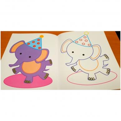 Veliūrinė spalvinimo knyga. Noriu spalvinti. 3-4 metų vaikams 4