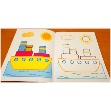 Veliūrinė spalvinimo knyga. Noriu spalvinti. 3-4 metų vaikams 5