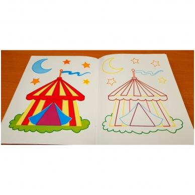Veliūrinė spalvinimo knyga. Noriu spalvinti. 3-4 metų vaikams 6