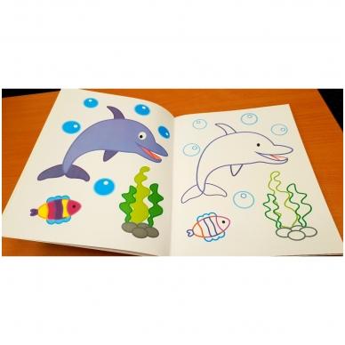 Veliūrinė spalvinimo knyga. Noriu spalvinti. 3-4 metų vaikams 7