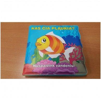Maudynių (vonios) knygelė. Kas čia plaukia? Nuspalvink vandeniu! 9